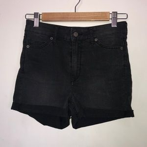 High waisted black shorts
